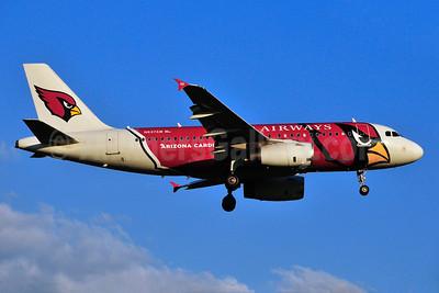 US Airways Airbus A319-132 N837AW (msn 2595) (Arizona Cardinals) RDU (Ken Petersen). Image: 928611.
