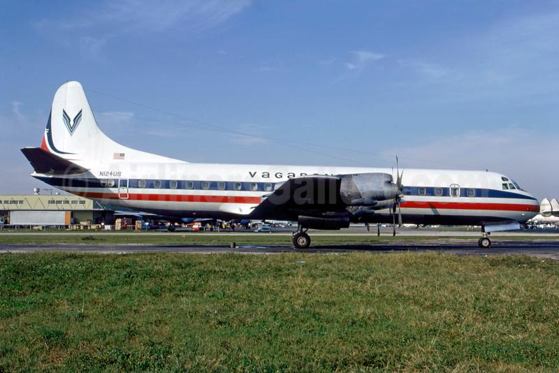 Vagabond Travel Club Lockheed 188C Electra N124US (msn 1085) MIA (Bruce Drum). Image: 103975.