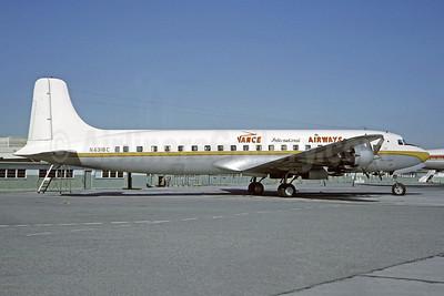 Vance International Airways Douglas DC-7B N6318C (msn 44282) LAX (Michel Klein Collection). Image: 948257.