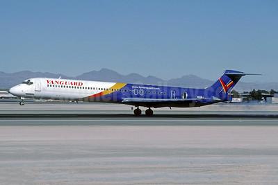 Vanguard Airlines McDonnell Douglas DC-9-83 (MD-83) N131NJ (msn 49846) LAS (Jacques Guillem Collection). Image: 942345.