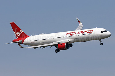 Virgin America's first Airbus A321neo, delivered on April 20, 2017, introduced on May 31, 2017