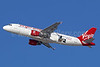 Virgin America's 2016 version of the San Francisco Giants logo jet