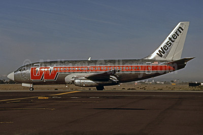Western Airlines Boeing 737-2S3 EI-BPY (msn 21774) SJC (Thomas Livesey). Image: 904672.