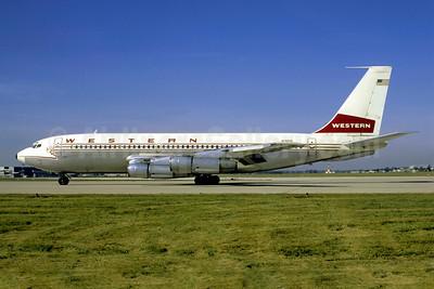 Western Airlines Boeing 720-047B N3159 (msn 19160) CMH (Robert E. Garrard). Image: 904671.