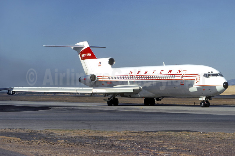 Western Airlines Boeing 727-247 N2801W (msn 20263) LAX (Christian Volpati Collection). Image: 936724.