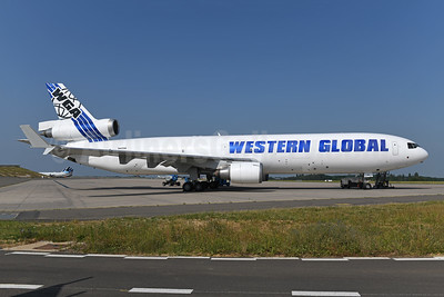 Western Global Airlines - WGA McDonnell Douglas MD-11 (F) N412SN (msn 48412) LGG (Ton Jochems). Image: 947726.