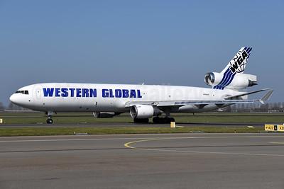 Western Global Airlines - WGA McDonnell Douglas MD-11 (F) N799JN (msn 48799) AMS (Ton Jochems). Image: 952559.