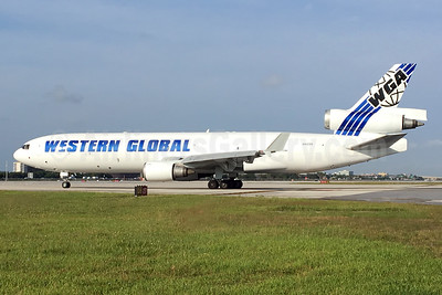 Western Global Airlines - WGA McDonnell Douglas MD-11 (F) N412SN (msn 48412) MIA (L. Apso). Image: 944031.