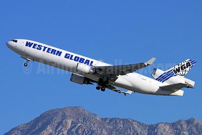 Western Global Airlines - WGA McDonnell Douglas MD-11 (F) N799JN (msn 48799) ONT (Michael B. Ing). Image: 952560.