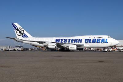 Western Global Airlines-WGA Boeing 747-446 (F) N356KD (msn 26356) LAX (Michael B. Ing). Image: 944024.