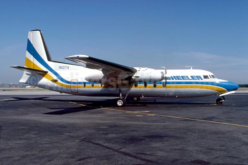 Wheeler Airlines Fairchild F-27 N112TA (msn 2) LGA (Fred Freketic). Image: 921692.