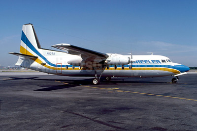 Wheeler Airlines Fairchild F-27 N112TA (msn 2) LGA (Fred Freketic). Image: 921692.