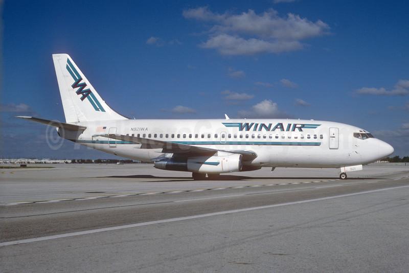 WinAir Airlines (USA) Boeing 737-2Y5 N921WA (msn 23039) MIA (Bruce Drum). Image: 103437.
