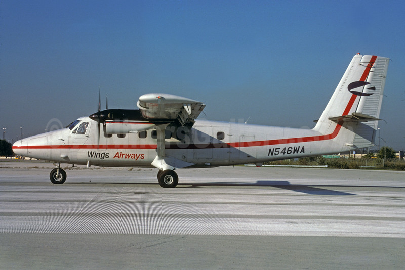 Wings Airways de Havilland Canada DHC-6-300 Twin Otter N546WA (msn 667) PHL (Robert Drum). Image: 103482.