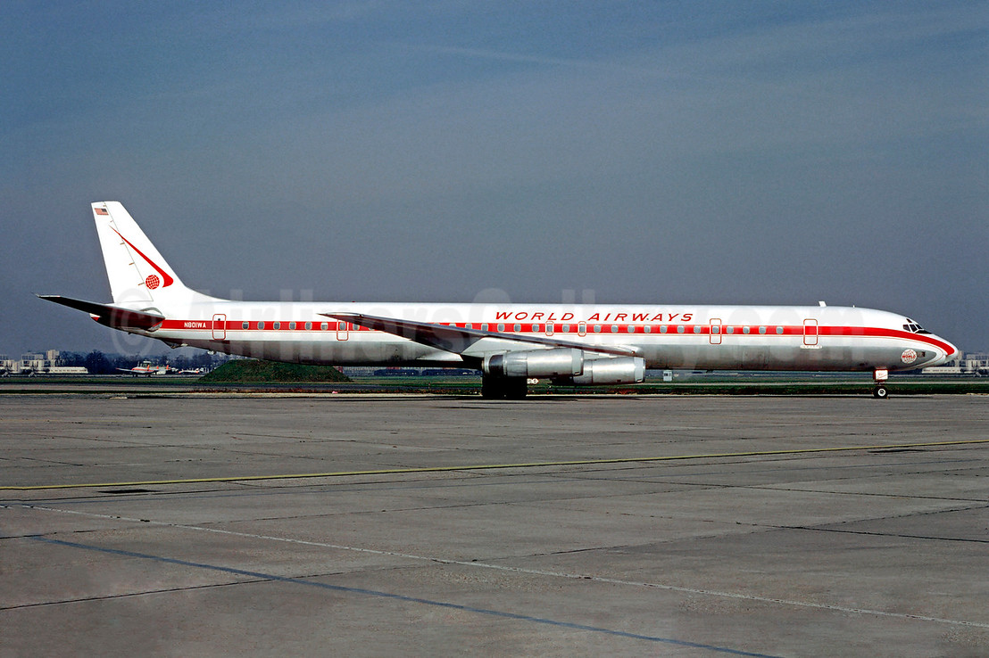 World Airways McDonnell Douglas DC-8-63CF N801WA (msn 46133) LBG (Christian Volpati). Image: 906729.