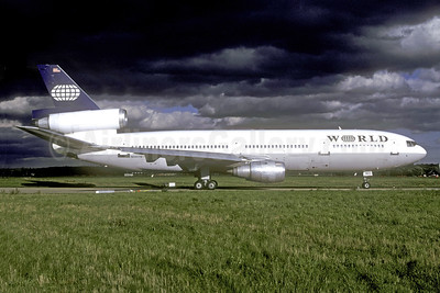 World Airways McDonnell Douglas DC-10-30 N14075 (msn 46922) (partial Continental colors) FRA (Christian Volpati Collection). Image: 940962.