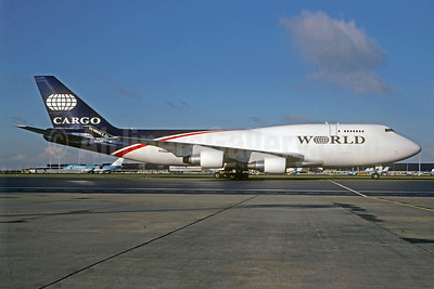 World Airways Boeing 747-4H6 (F) N741WA (msn 25702) AMS (Christian Volpati Collection). Image: 940804.