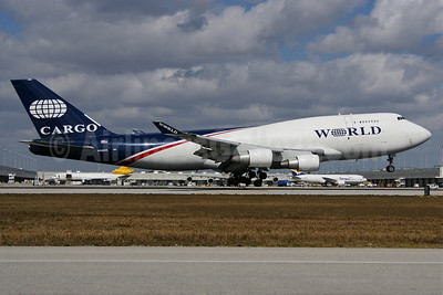 World Airways Boeing 747-4H6 (F) N740WA (msn 25700) MIA (Wade DeNero). Image: 901906.