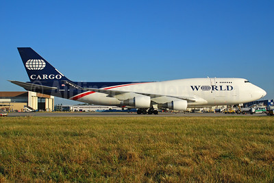 World Airways Boeing 747-4H6 (F) N740WA (msn 25700) FRA (Bernhard Ross). Image: 940803.