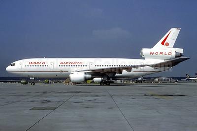 World Airways (SAS) McDonnell Douglas DC-10-30 LN-RKC (msn 47814) FRA (Christian Volpati Collection). Image: 940801.