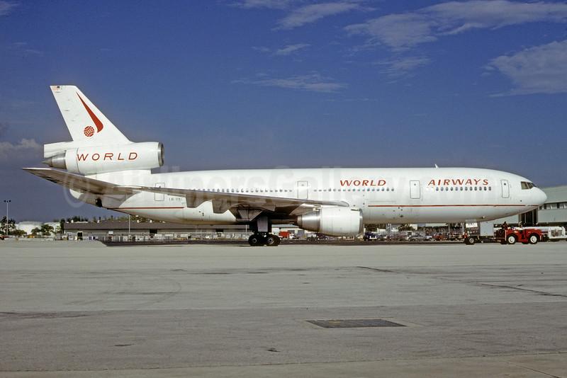 World Airways (SAS) McDonnell Douglas DC-10-30 LN-RKC (msn 47814) MIA (Bruce Drum). Image: 103481.