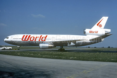 World Airways McDonnell Douglas DC-10-10 N102UA (msn 46905) (experimental colors) CDG (Christian Volpati). Image: 940798.