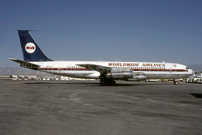 Worldwide Airlines-WA Boeing 707-331B N8733 (msn 20062) SFO (Seymour A. Hills - Bruce Drum Collection). Image: 948255.
