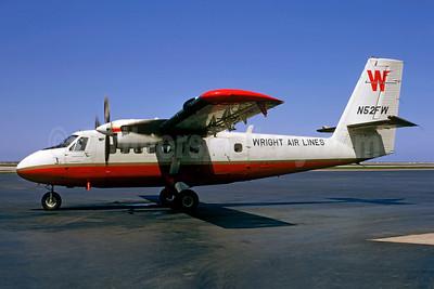 Wright Air Lines de Havilland Canada DHC-6-100 Twin Otter N52FW (msn 52) BKL (Robert E. Garrard - Christian Volpati Collection). Image: 913809.
