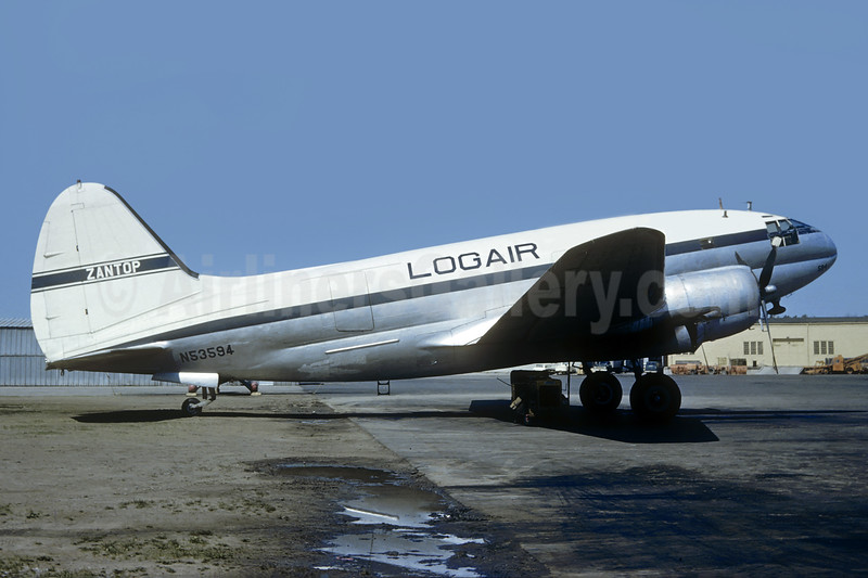 Zantop Air Transport - Logair Curtiss C-46F-1-CU Commando N53594 (msn 22486) DTW (Christian Volpati Collection). Image: 937864.