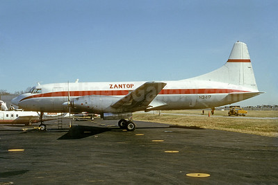 Zantop International Airlines Convair 640 (F) N3417 (msn 48) ATL (Bruce Drum). Image: 103472.