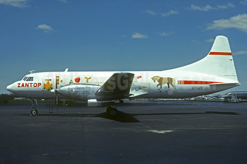 """Zantop's 1981 """"Cargo Carried"""" special livery"""