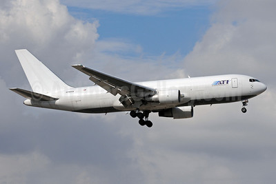 ATI-Air Transport International Boeing 767-232 (F) N748AX (msn 22225) MIA (Bruce Drum). Image: 101797.