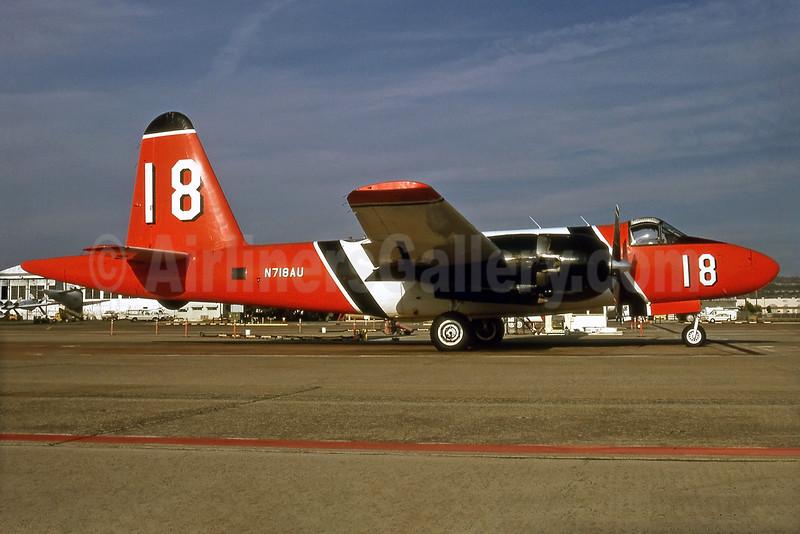 """Aero Union (USA) Lockheed P-2H Neptune N718AU (msn 726-7214) """"18"""" CIC (Keith Burton). Image: 931231."""