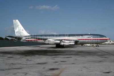 Air Berlin USA Boeing 707-123B N7509A (msn 17636) (American Airlines colors) MIA (Bruce Drum). Image: 103568.