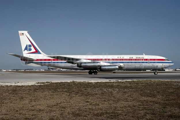 Air Berlin USA Boeing 707-331 N763AB (msn 17676) MIA (Al Rodriguez - Bruce Drum Collection). Image: 925005.