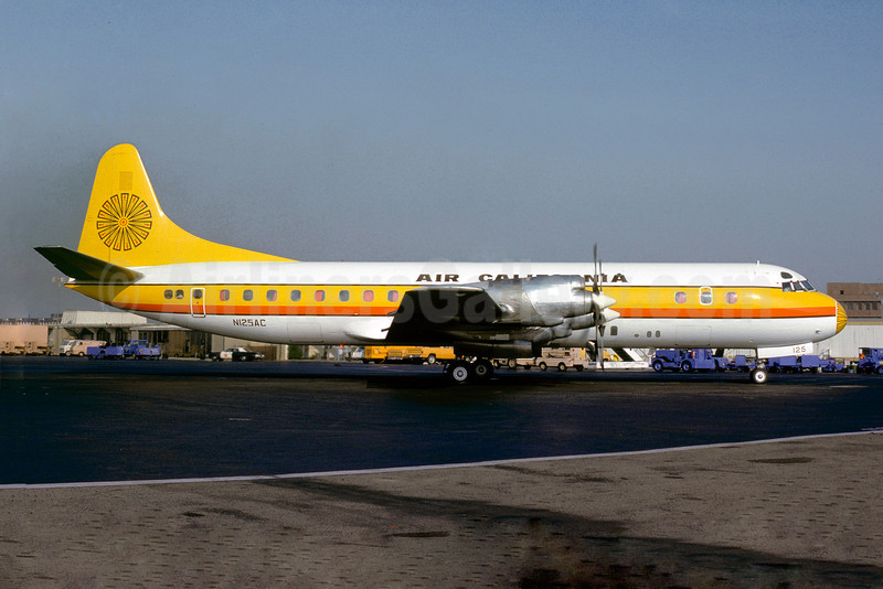 Air California Lockheed 188A Electra N125AC (msn 1006) (Jacques Guillem Collection). Image: 922714.
