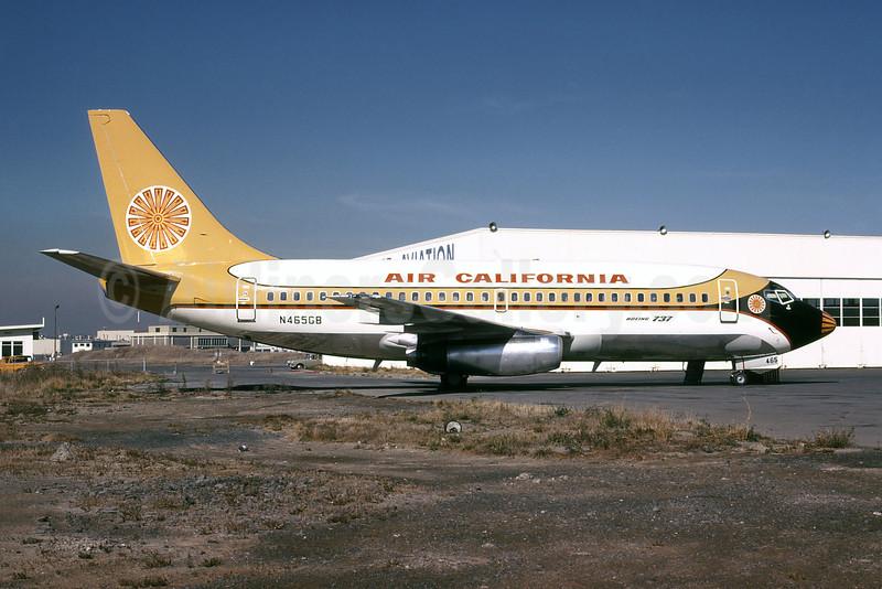 Air California Boeing 737-293 N465GB (msn 19713) SFO (Jay L. Sherlock - Bruce Drum Collection). Image: 102065.