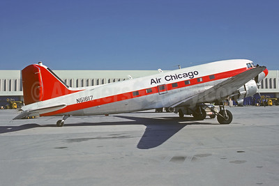 Air Chicago Freight Airlines Douglas C-47A-DL (DC-3) N51617 (msn 9967) ATL (Jacques Guillem Collection). Image: 946325,
