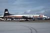 Air Express International Airlines - AEI Canadair CL-44D4-2 Swingtail N121AE (msn 38) MIA (Bruce Drum). Image: 103580.
