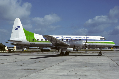 Air Florida Commuter-Atlantic Gulf Airlines Convair 580 N73108 (msn 11) FLL (Christian Volpati Collection). Image: 946180.