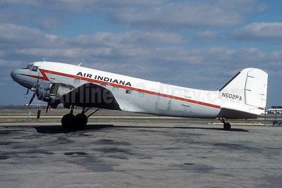 Air Indiana Douglas C-47B-DK (DC-3) N502PA (msn 26744) (CAF colors) ORD (Christian Volpati Collection). Image: 945583.