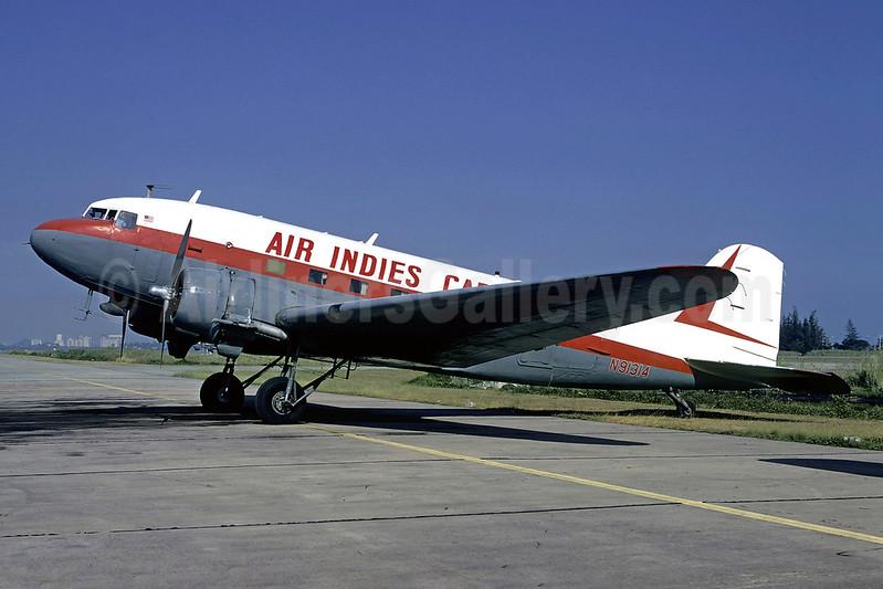 Air Indies Cargo Douglas C-47-DL (DC-3) N91314 (msn 4538) SJU (Bruce Drum). Image: 104014.