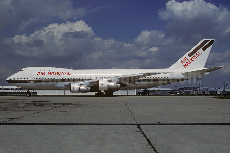 Air National (USA) Boeing 747-257B LX-SAL (msn 20116) (Swissair colors) ORY (Jacques Guillem). Image: 932032.