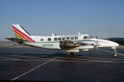 Air New England Beechcraft 99 N1034S (msn U-71) LGA (Peter C. Mills - Bruce Drum Collection). Image: 922024.