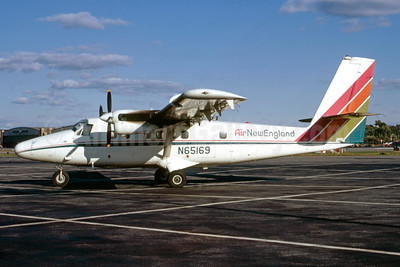 Air New England de Havilland Canada DHC-6-200 Twin Otter N65169 (msn 169) LGA (Peter C. Mills - Bruce Drum Collection). Image: 922027.