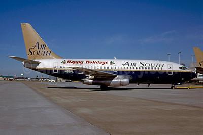 Air South (4th) Boeing 737-242 N159PL (msn 21186) (Happy Holidays) ATL (Norbert G. Raith). Image: 911758.