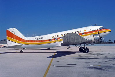 Air Sunshine (1st) Douglas C-53-DO (DC-3A) N74KW (msn 7317) MIA (Bruce Drum). Image: 103190.