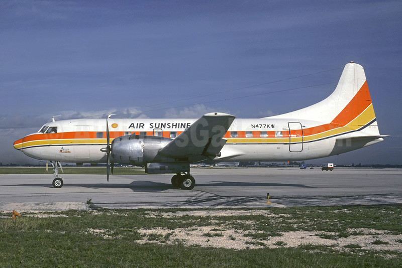 Air Sunshine (1st) Convair 440-68 N477KW (msn 210) MIA (Christian Volpati Collection). Image: 909236.