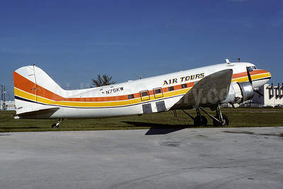 Air Tours Douglas C-53-DO (DC-3A-405) N75KW (msn 4861) (Air Sunshine colors) MIA (Bruce Drum). Image: 103598.