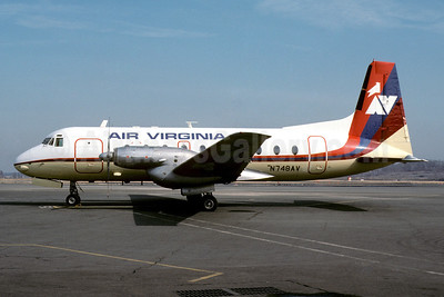 Air Virginia (1st) Hawker Siddeley HS.748 Series 2B N748AV (msn 1782) DCA (Jay Selman). Image: 402532.